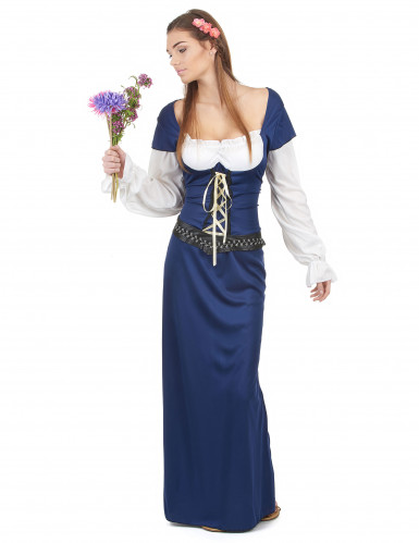 Costume da bavarese lungo blu per donna