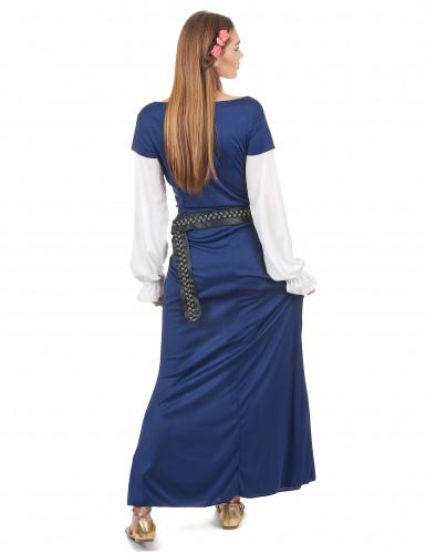 Costume da bavarese lungo blu per donna-2