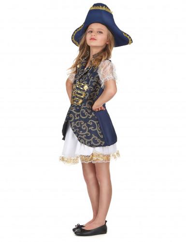 Costume blu scuro pirata bambina-1