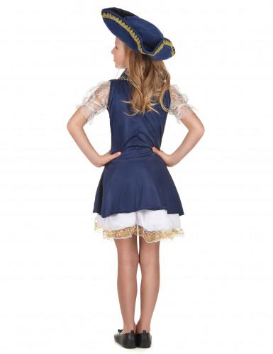 Costume blu scuro pirata bambina-2