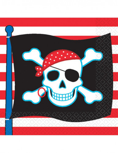 Tovaglioli pirata con bandiera