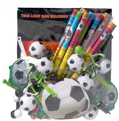 Assortimento gadget calcio
