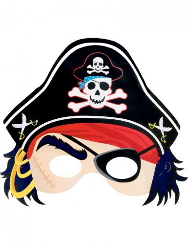 Maschera da pirata in cartoncino bambino