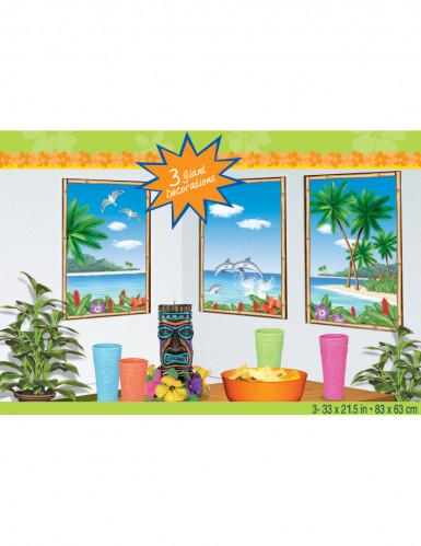 Decorazioni murali isola paradisiaca