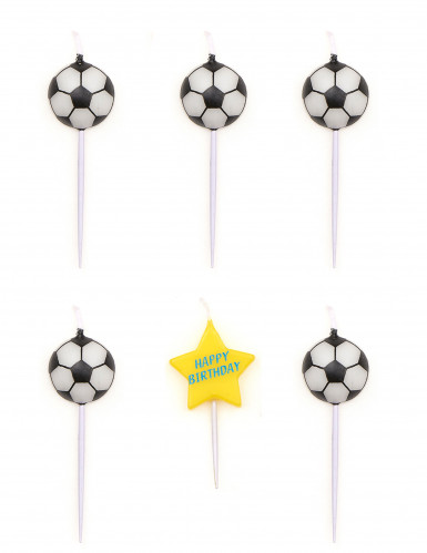 5 candele compleanno palloni da calcio