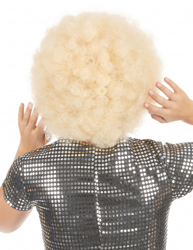 Parrucca afro/disco/ clown bionda donna-1