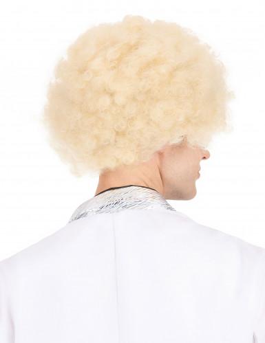 Parrucca afro/disco/ clown bionda donna-2