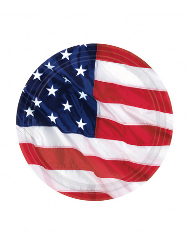 8 piattini bandiera americana