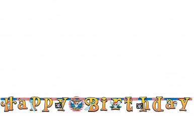 Striscione happy birthday a tema pirata