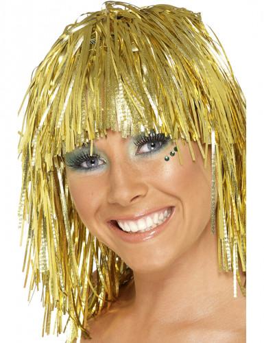 Parrucca metallica oro adulto