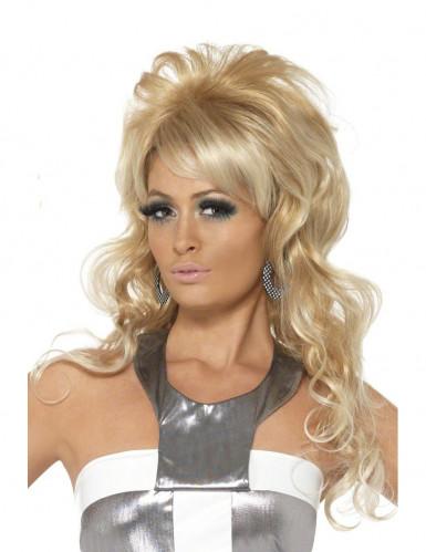 Parrucca bionda popstar donna