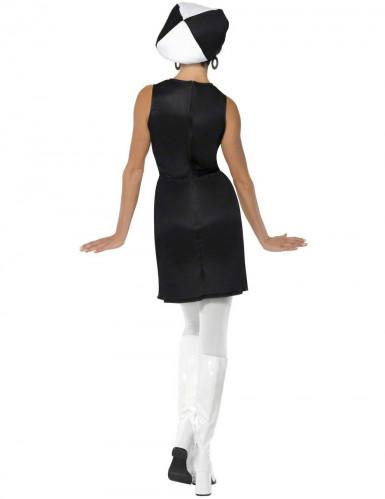 Costume disco bianco e nero per donna-1