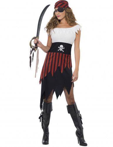 Costume pirata con orli strappati per donna