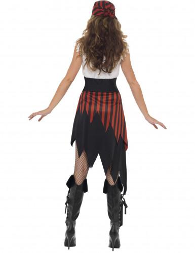 Costume pirata con orli strappati per donna-1