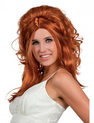 Parrucca da cowgirl rossa donna