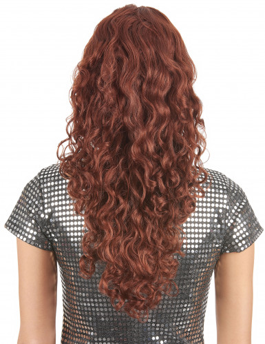 Parrucca lunga, riccia e rossa donna-1