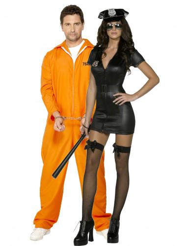 Costume coppia poliziotta sexy e prigioniero
