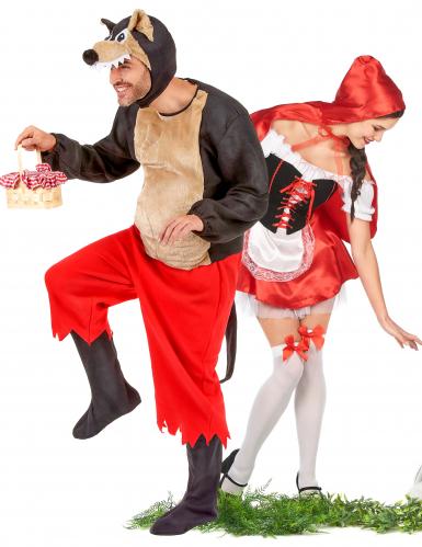 Costume coppia Cappuccetto Rosso e Lupo cattivo