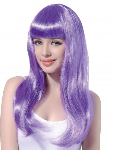 Parrucca lunga viola pallido donna