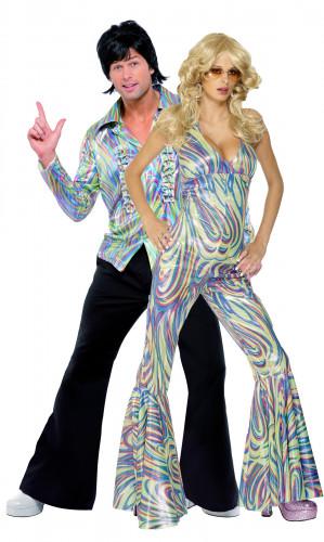 Costume coppia disco anni 70 per adulti