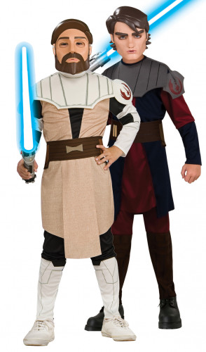 Costume  Anakin Skywalker et Obi wan Kenobi Star Wars™ bambini