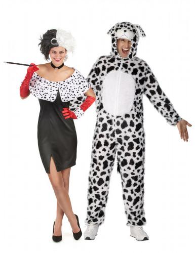 Costume coppia Crudelia e suo dalmata