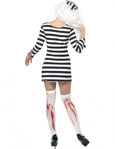 Costume zombie donna prigioniera Halloween-1