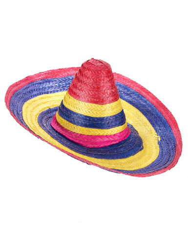 Sombrero messicano multicolore per adulto