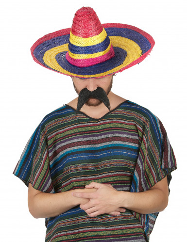 Sombrero messicano multicolore per adulto-1