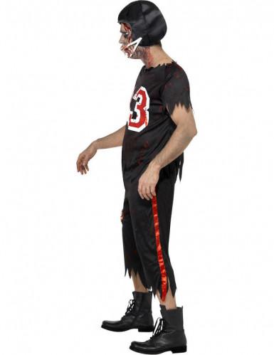 Costume zombie giocatore football americano uomo Halloween-2