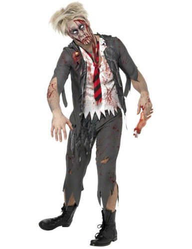 Costume zombie scolaro uomo Halloween