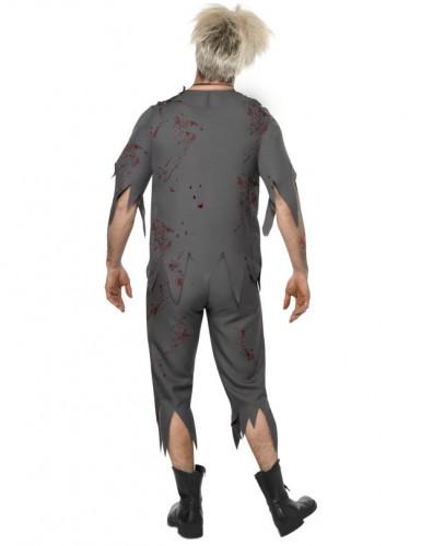 Costume zombie scolaro uomo Halloween-1