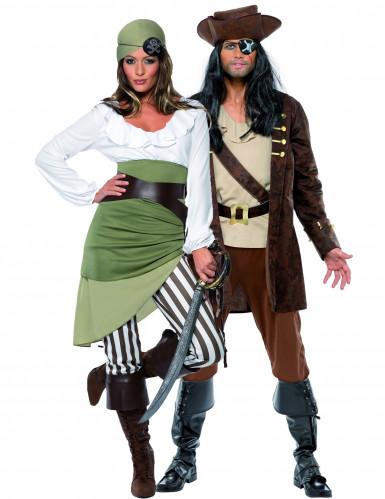 Costume coppia pirati bucanieri