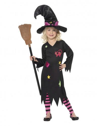 Costume strega gatto bambina Halloween