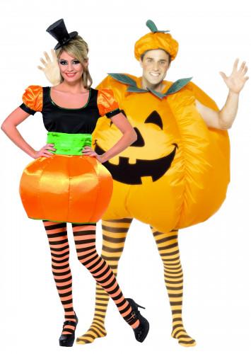 Costumi coppia zucca Halloween