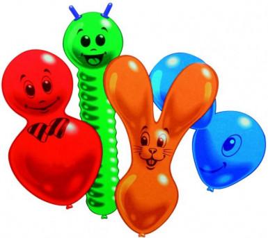 10 palloncini a forma di animali