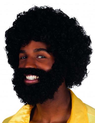 Parrucca mambo con barba e baffi adulti