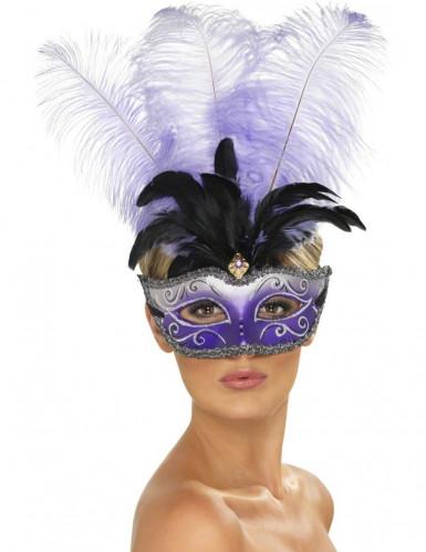 Maschera veneziana viola adulto