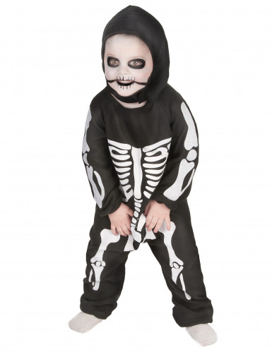 Costume da mini scheletro bambino Halloween-1