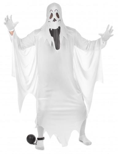 Costume fantasma burlone per adulto