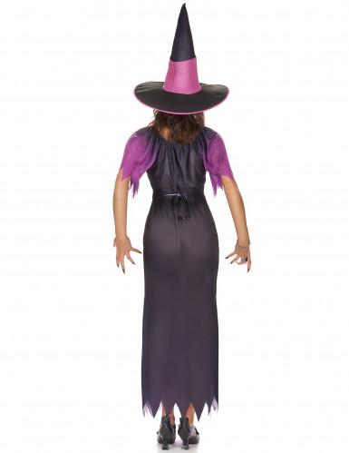 Costume da strega nero e viola per donna-2