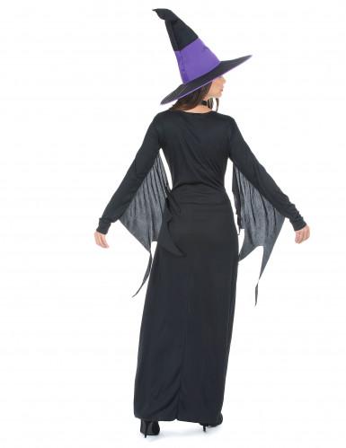 Costume da strega nero e viola donna Halloween-2