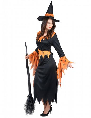 Costume da strega con ragni per donna-1