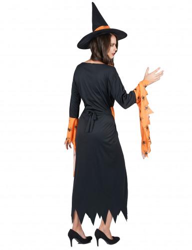 Costume da strega con ragni per donna-2