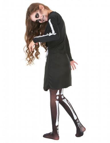 Costume da scheletro per bambina - Halloween-2