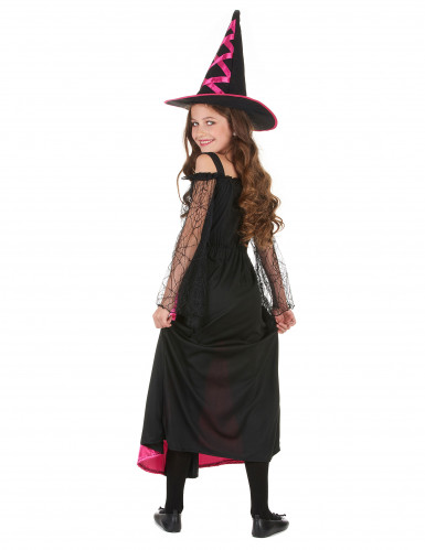 Costume da strega fucsia bambina Halloween-2