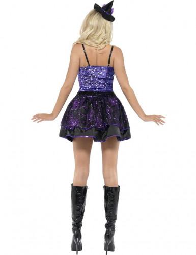 Costume da strega sexy con paillettes viola per donna-1