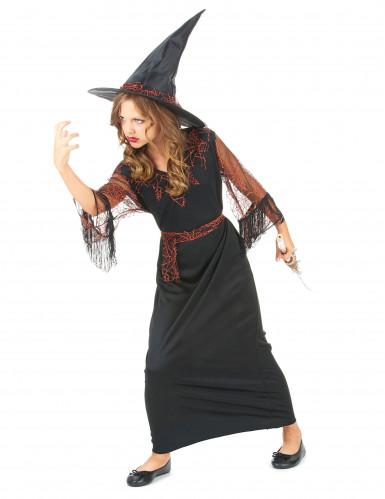 Costume strega nero bambina Halloween-1