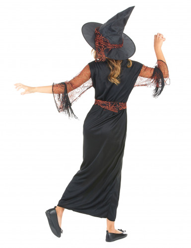 Costume strega nero bambina Halloween-2