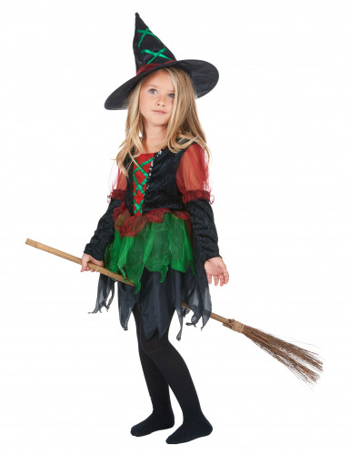 Costume strega dei boschi bambina Halloween-1